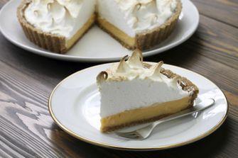 Foto van een no-bake citroen-meringuetaart (taartrecepten)