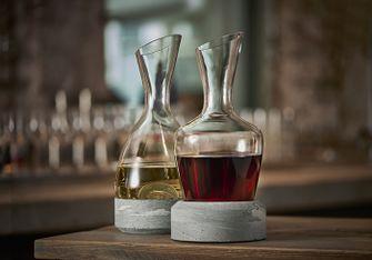 een wijnkaraf met warmte- én koelelement
