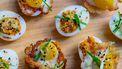 Koreaanse gevulde eieren / kerst amuses