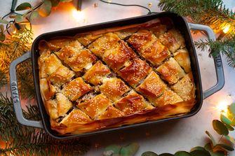 Vegetarisch hoofdgerecht: hartige baklava