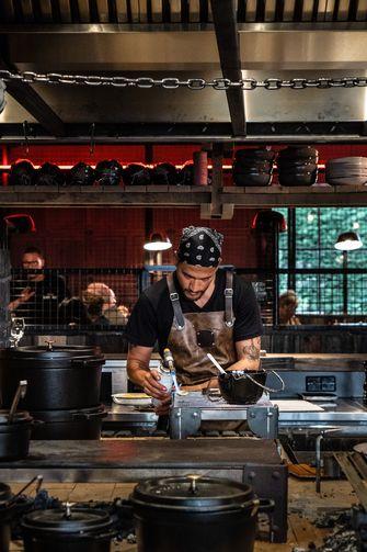 De keuken van Black Smoke