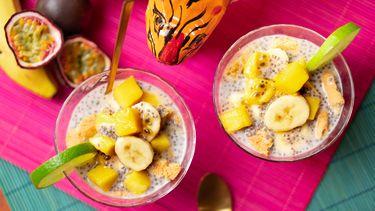 Tropische trifle met mango