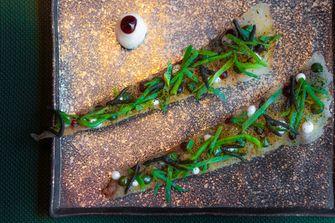 Seaweed pizza van Taiko