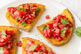 Toast met tomaat
