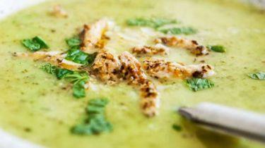 Courgettesoep met kip