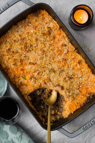 Vegan pastei: een heerlijke ovenschotel