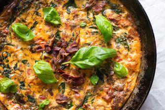 BLT frittata groente in je ontbijt