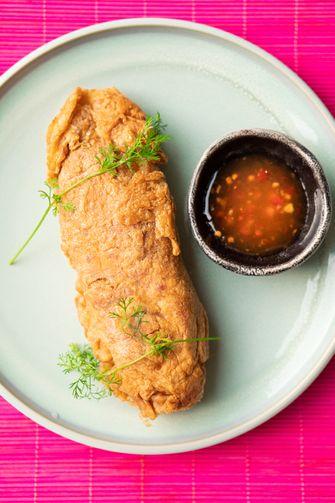 Crab omelet van Jay Fai