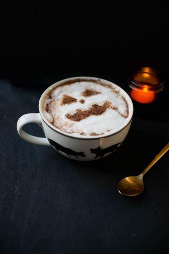 Warme chocolademelk Halloween