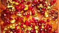 gerecht met granaatappelpitjes