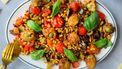 Caponata met gefrituurde olijven