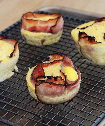 eieren met spek maar dan in een muffinvorm