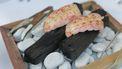 langoustine grillen aan tafel / houtskool