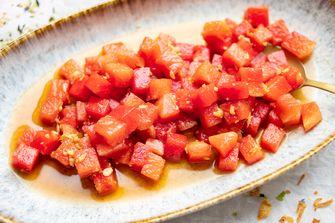 Aziatisch gemarineerde watermeloen