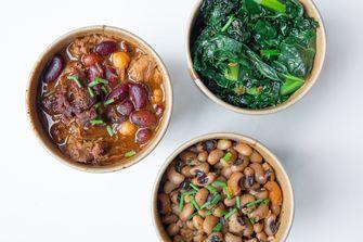 Beans, greens en bbq beans van Pendergast