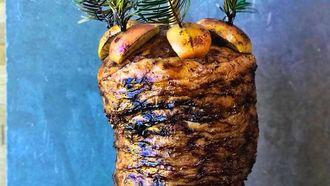 De vegetarische shoarma van Noma, gemaakt van knolselderij