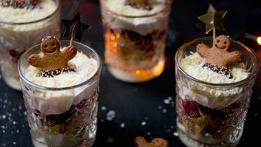 trifle in glaasjes kerst