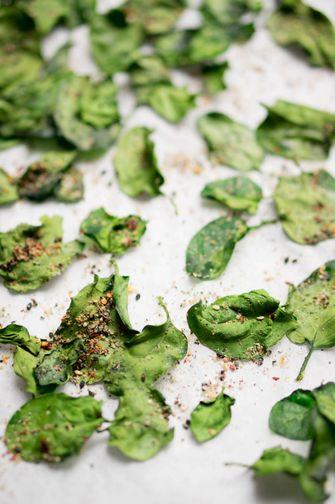 Japanse spinazie chips: gezonde snack