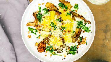 open lasagne met paddenstoelen