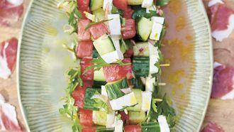 Watermeloenspiesjes van Jamie Oliver