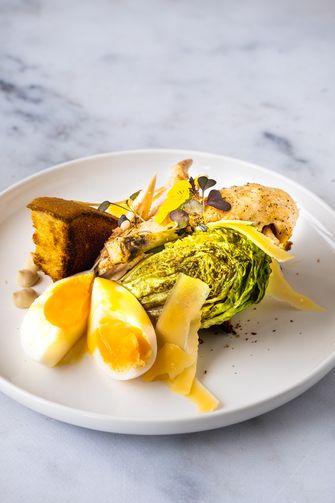Caesar salad van de Sterrenchef BBQ Box