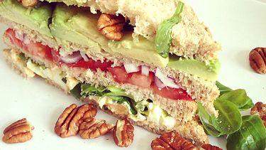 vegetarische club sandwich