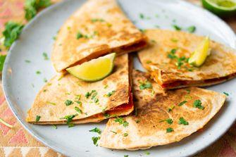 Quesadillas met zoete aardappel