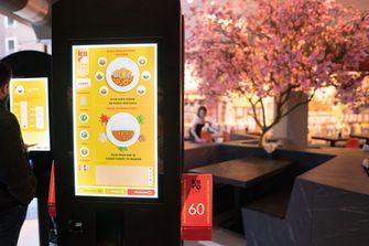 Touchscreen bij Kiiro in Rotterdan