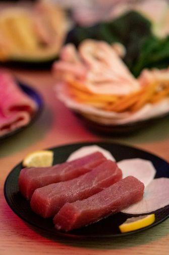Japanse fondue tonijn