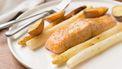witte asperges uit de oven
