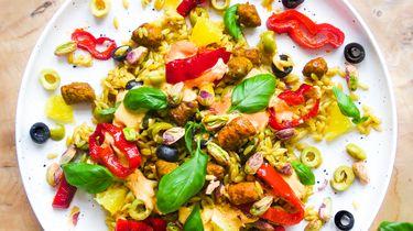 Orzo met merguez en olijf