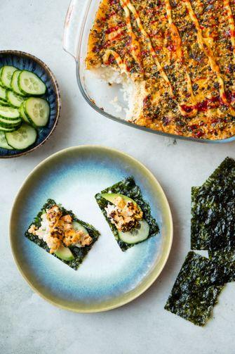 Sushi-ovenschotel / sushi bake