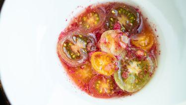 Gerecht van tomaat bij Bord'Eau