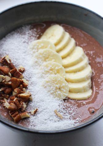 Afbeelding van chocolade smoothiebowl