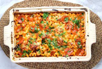 Afbeelding van pasta met kaassaus
