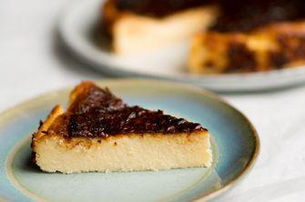 Baskische cheesecake