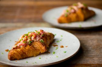 Lobster roll croissants