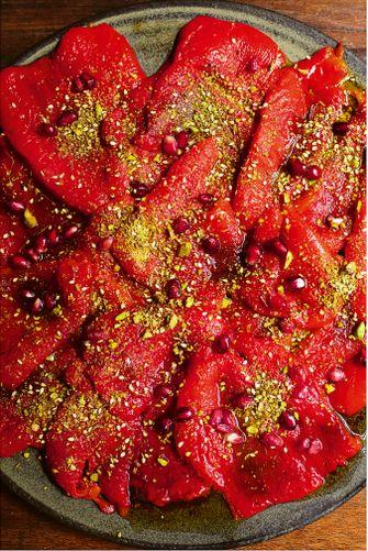 Geroosterde paprika's