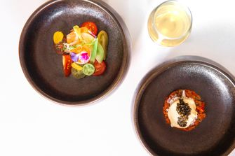 Steak tartare van tomaat bij Restaurant Triptyque