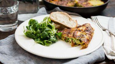 Afbeelding van Spaanse tortilla met erwtjes (Mediterraans eten) voor Culy's Weekmenu