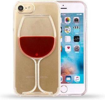 iphone hoesje met wijnglas