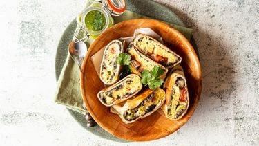 Vega breakfast burrito