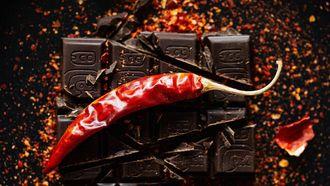 chocolade in hartige gerechten
