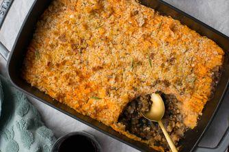 ovenscotel van vegetarische pastei