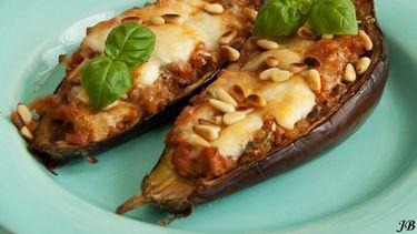 aubergine uit de oven met kaas