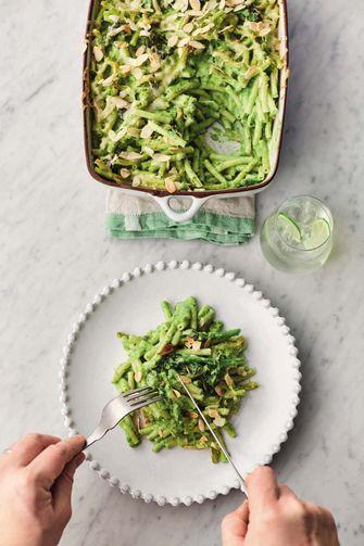 Jamie Oliver's vegetarische mac 'n cheese met groente