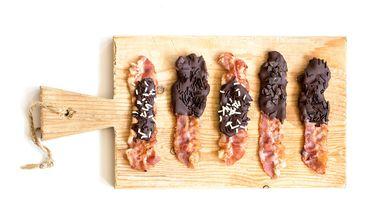 Bacon met chocolade