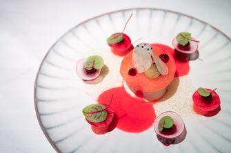 Watermeloen biet en noordzeekrab bij Bellezza