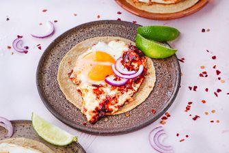 Tortilla met chipotle eitjes