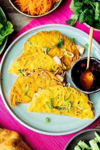 Banh Xeo recept: Vietnamese pannenkoek